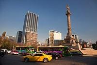 Angel statue, Independence Monument in Avenida de la Reforma, Mexico City, Mexico, Central America.