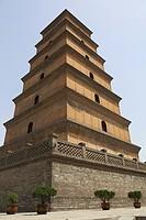 Giant Wild Goose Pagoda, Xian, China.