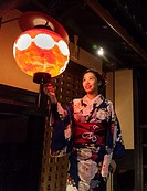 woman with traditional dress (Yukata) in Gion area.