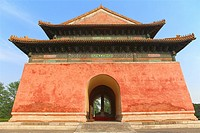 Shengong Shengde Stele Pavilion, Imperial Tombs of the Ming and Qing Dynasties, near Beijing, China.