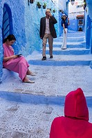Morocco, Chefchaouen, daily life.