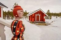 Statue at Kakslauttanen Hotel, Lapland, Finland.
