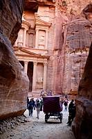 Jordan. Ma´an. Wadi Musa. Petra. The Treasury