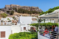 Rooftop Views Of Lindos, Rhodes, Greece.