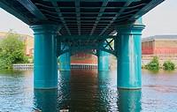Lady Bay Bridge (opened 1878) is a road bridge across the river Trent, Nottingham, Nottinghamshire, east Midlands, England.