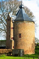 tower of loevestein castle at gelderland, holland