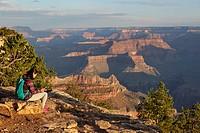 Grand Canyon seen from Yavapai point, South Rim, Arizona, United States.