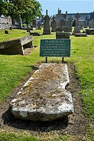 Plaiden Ell / Tailor's measure of length used for measuring cloth at the Dornoch Cathedral churchyard, Sutherland, Scottish Highlands, Scotland
