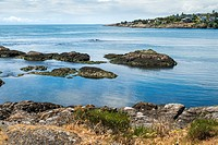Bay with rocks in Victoria, BC, British Columbia
