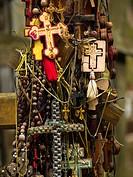 Grabaraka. Eastern Poland. Holy Hill of the Polish Orthodox Church. Part of a cross