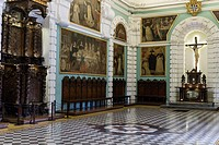 Church and convent of Santo Domingo (16th century) in Lima, Peru.Chapter room.
