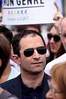 Benoit Hamon at Paris Gay Pride 2017, 24 th june, France.