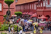 Malaysia, Malacca state, Malacca, Unesco Wold Heritage, City square.