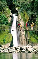 Giant´s Gate Falls. Milford Track. Fiordland N.P. New Zealand