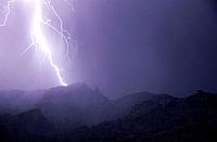 Thunderstorm. Santa Catalina Mountains. Arizona. USA
