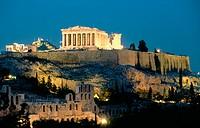 Acropolis, Athens, Greece at twilight