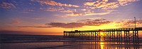 Pier at sunset on the Gulf of Mexico in Florida.