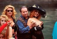 Tinto Brass and the female cast of the film ´Trasgredire´, Mostra del Cinema, Venice