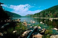Jordon Pond in Acadia National Park. Maine. USA