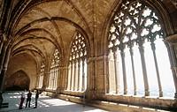Cloister in ´La Seu Vella´ (13th century). Lleida. Catalonia. Spain