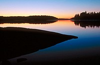 Sunset, Lac La Croix, Boundary Waters Canoe Area Wilderness, Superior National Forest, Minnesota USA