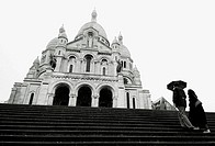 Sacré Coeur and steps. Paris. France