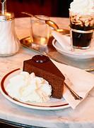 Sacher Torte. Sacher Café. Vienna. Austria.