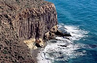 Punta Redonda cliffs. Parque Natural del Cabo de Gata-Nijar. Almeria province. Spain
