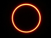 Annular solar eclipse. Madrid, Spain (October 3rd, 2005)
