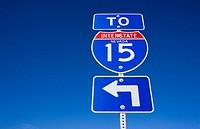 Interstate sign, Nevada, USA