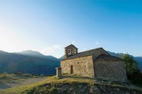 Chapel of Sant Quirze in Durro. Boí valley, Lleida province, Catalonia, Spain