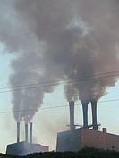 Cement plant, Mazaricos. La Coruña province, Galicia, Spain