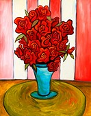 ´Bouquet´ from the series ´Les Fleurs´ 24 x 30´ Oil on canvas. Artist´s collection. 2004.