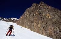 Ice climbing. Pic du Midi d´Ossau (2884 m.), France