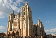 Gothic cathedral (13th century), León. Castilla-León, Spain