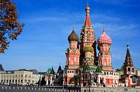 St. Basil´s cathedral, Red Square, Moscow, Russia
