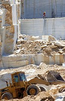 Marble quarry, Macael. Almería province, Andalusia, Spain