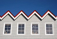 Roof of the Restaurant at Peggys cove, Nova Scotia, Canada
