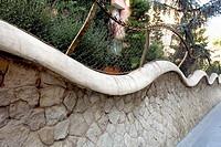 Güell pavillion by  Gaudí, Barcelona. Catalonia. Spain