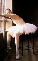 Ballet dancer in repose