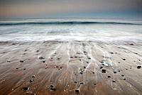 Laga beach in the afternoon, Urdaibai Biosphere Reserve. Ibarrangelu, Biscay, Euskadi, Spain