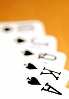 Best possible five card poker hand, a royal straight flush in Spades; the Ace of Spades.