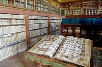 Library of San Millan de la Cogolla monastery. La Rioja, Spain
