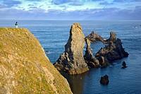 Brittany, Belle-Ile, wild coast: ´aiguilles´