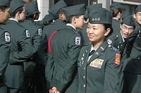 New York City USA, cadets at the Veterans Day parade
