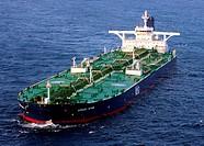 INDIAN OCEAN (Nov. 19, 2008) The Liberian-flagged oil tanker MV Sirius Star is at anchor Wednesday, Nov. 19, 2008 off the coast of Somalia. The Saudi-...