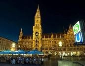 Marienplatz and Neues Rathaus, Munich, Bavaria, Germany