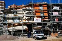 Building construction. Majorca. Balearic Islands. Spain