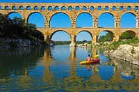 Pont du Gard Roman aqueduct, Gard, Languedoc-Roussillon, France