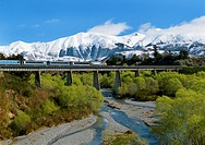 Tranz Alpine train near Springfield Canterbury New Zealand